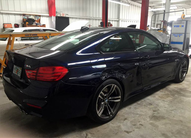 auto body painting, newly painted bmw
